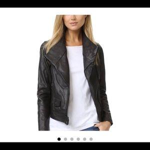 Vince leather motor jacket SZ XS